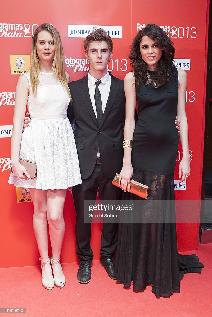 Arantxa Marti, Patrick Criado and Sandra Martin attend the 'Fotogramas Awards' 2013 at Joy Slava on February 24, 2014 in Madrid, Spain.