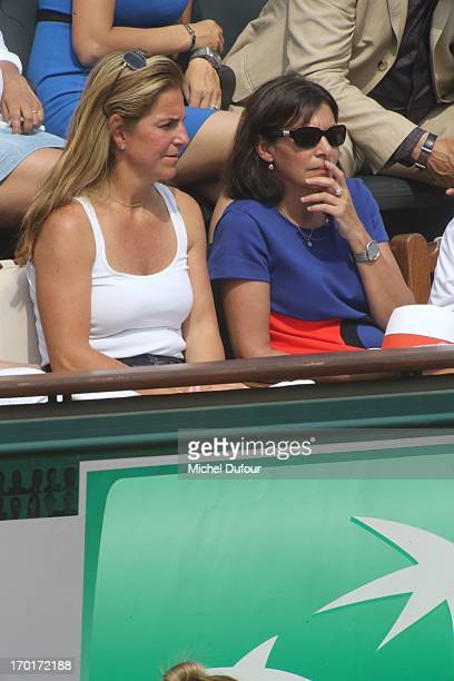 Arantxa Sanchez and Cecile Duflot seen as Celebrities At French Open 2013 Day 14 at Roland Garros on June 8 2013 in Paris France