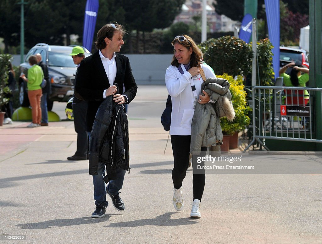 Arantxa Sanchez Vicario and Josep Santacana Attend Fed Cup