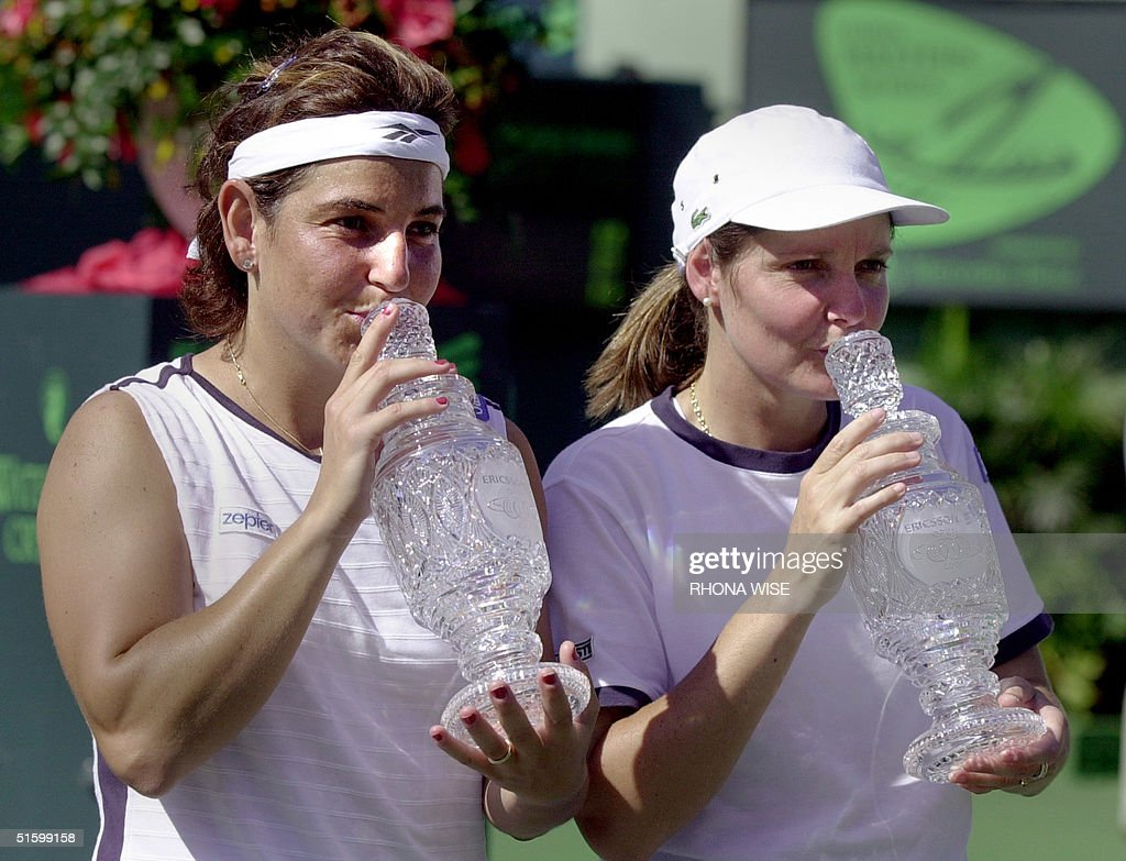 Arantxa Sanchez Vicario of Spain L and her Women
