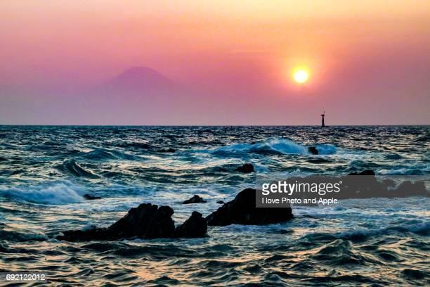 Arasaki sunset scenery