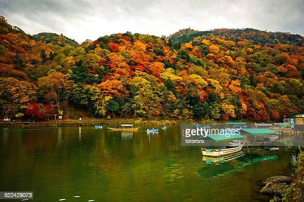 Arashiyama in Autumn in Kyoto Japan