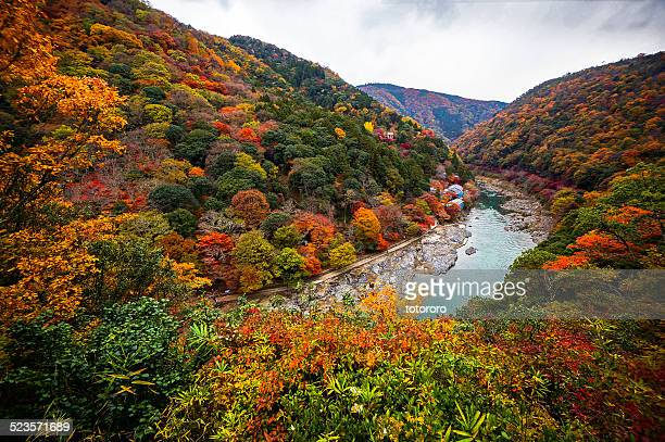 Arashiyama in Autumn in Kyoto Japan