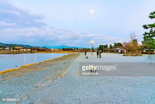Arashiyama riverside : Stock Photo