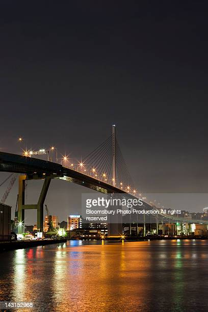 Aratsu bridge at night