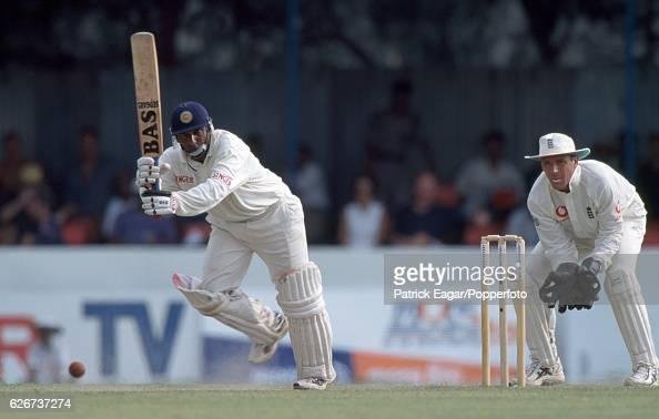 Aravinda de Silva batting for Sri Lanka during his innings of 106 in the 1st Test match between Sri Lanka and England at Galle International Stadium...