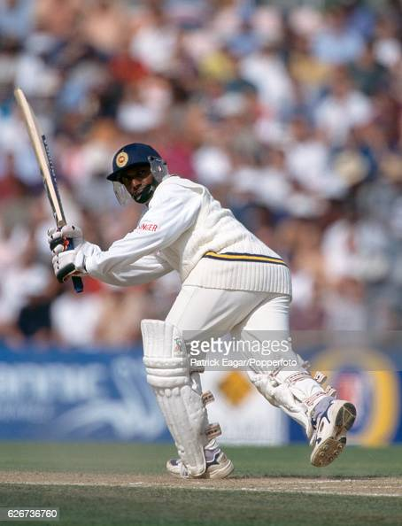 Aravinda de Silva batting for Sri Lanka during his innings of 152 in the Only Test match between England and Sri Lanka at The Oval London 29th August...