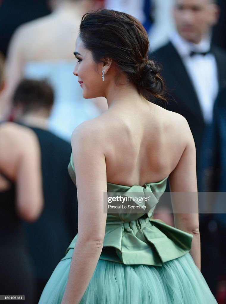 Araya A. Hargate attends the 'Cleopatra' premiere during The 66th Annual Cannes Film Festival at The 60th Anniversary Theatre on May 21, 2013 in Cannes, France.