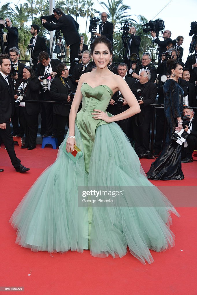 Araya A. Hargate attends the Premiere of 'Cleopatra' at The 66th Annual Cannes Film Festival on May 21, 2013 in Cannes, France.