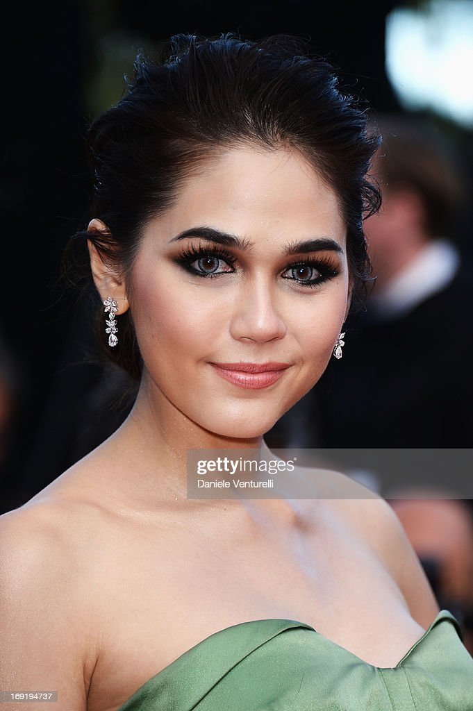 Araya A. Hargate attends the Premiere of 'Cleopatra' during the 66th Annual Cannes Film Festival at the Palais des Festivals on May 21, 2013 in Cannes, France.