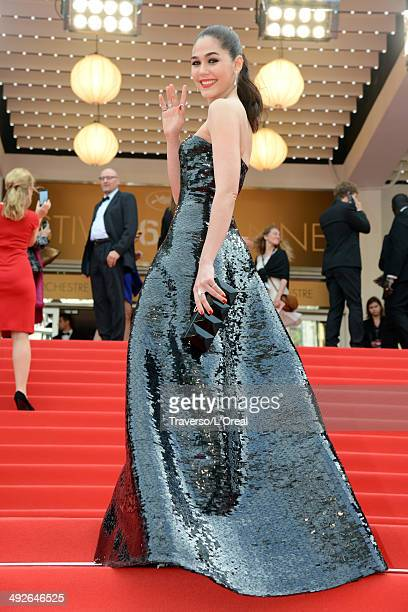 Araya A Hargate attends 'The Search' premiere during the 67th Annual Cannes Film Festival on May 21 2014 in Cannes France