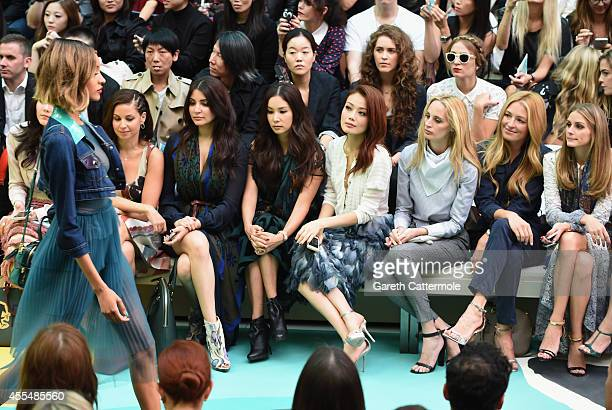 Araya A Hargate Raya Abirached Anushka Sharma Ko So Young Joey Yung Lauren Santo Domingo Cat Deeley and Olivia Palermo attend the Burberry Womenswear...