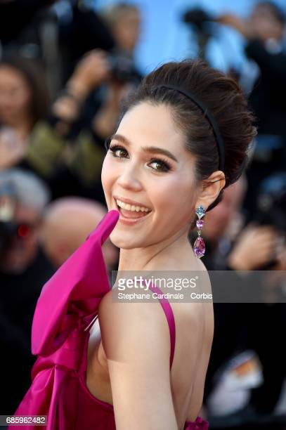 Araya Hargate attends the '120 Beats Per Minute ' screening during the 70th annual Cannes Film Festival at Palais des Festivals on May 20 2017 in...