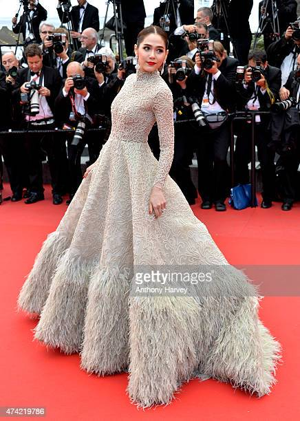Araya Hargate attends the 'Sicario' premiere during the 68th annual Cannes Film Festival on May 19 2015 in Cannes France