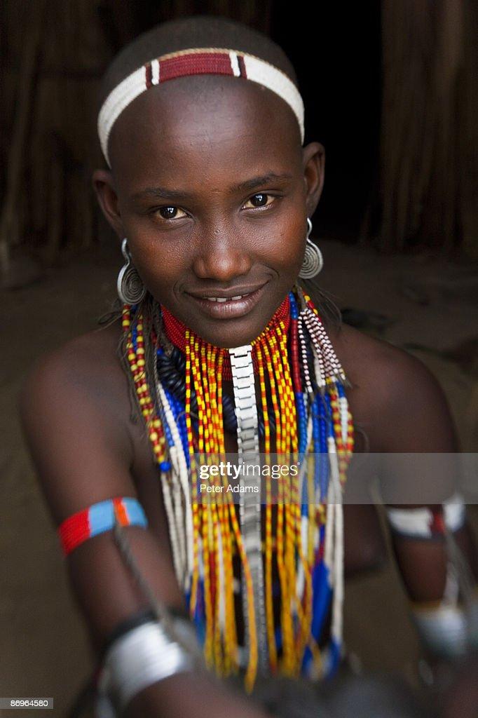 Arbore girl, Omo Valley, Ethiopia : Stock Photo