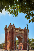 Triumphal Arch in Barcelona, Spain