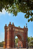 Triumphal Arch in Barcelona, Spain