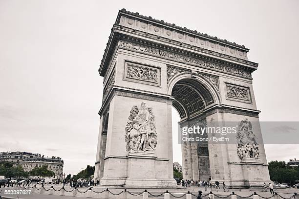 Arc De Triomphe Against Sky