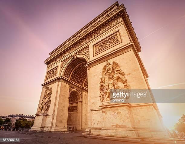 Arc de Triomphe at dawn - Paris