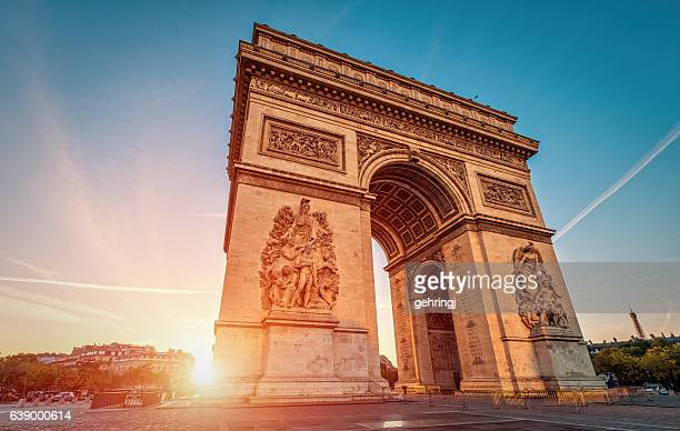 Arc de Triomphe at dawn - Paris