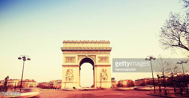 Arc de Triomphe on sunset