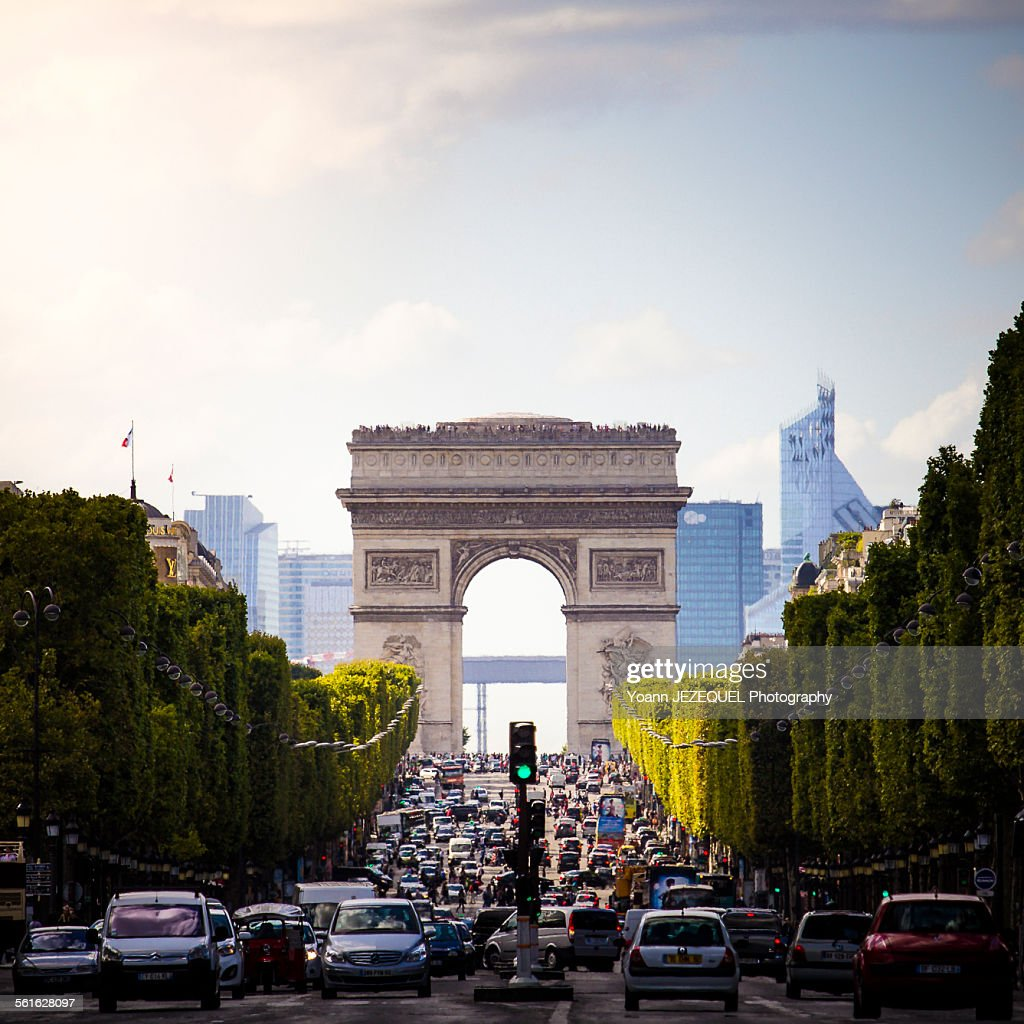 Arc de triomphe on the Champs Elysées