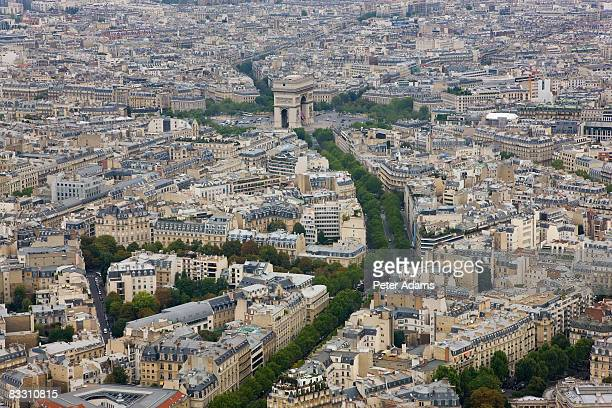 Arc de Triomphe & view over Paris, France