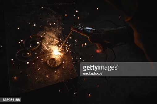 Arc welding : Stock Photo