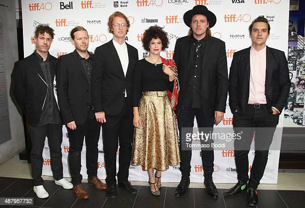 Arcade Fire musicians Jeremy Gara Tim Kingsbury Richard Reed Parry Regine Chassagne Win Butler and Will Butler attend 'The Reflektor Tapes' photo...