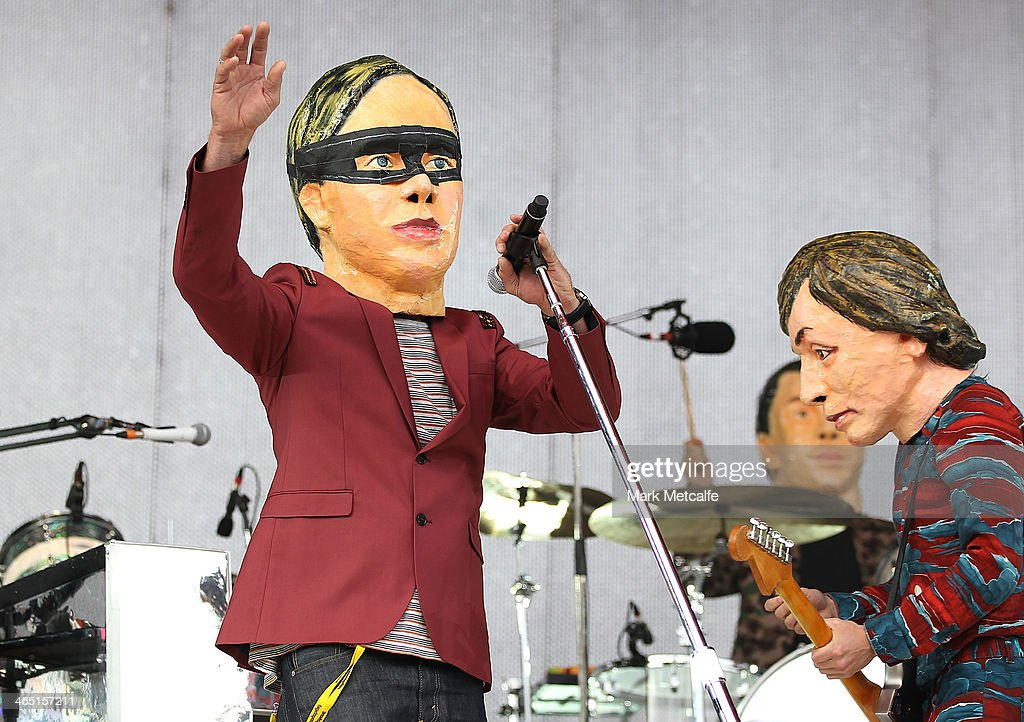 Arcade Fire perform live for fans at the 2014 Big Day Out Festival on January 26, 2014 in Sydney, Australia.