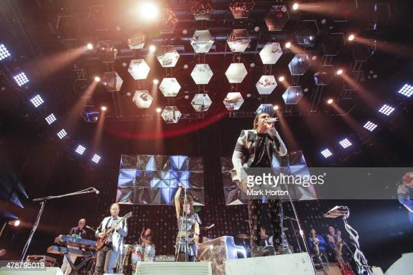 Arcade Fire performs live at the Canadian Tire Centre on March 14 2014 in Ottawa Canada