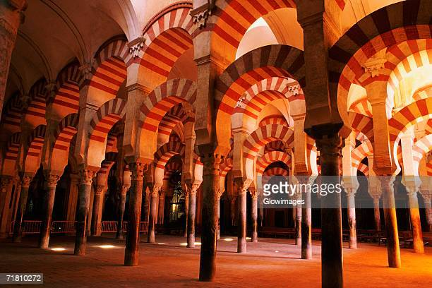 Arcade in a mosque, Cordoba, Andalusia, Spain