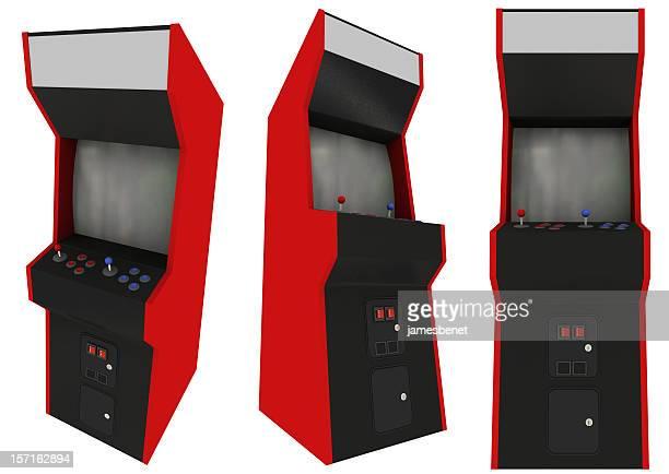 Vista de las máquinas de juegos de tres (aislado