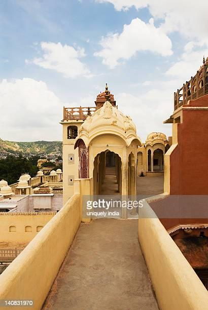 Arcade of a palace, Hawa Mahal, Jaipur, Rajasthan, India