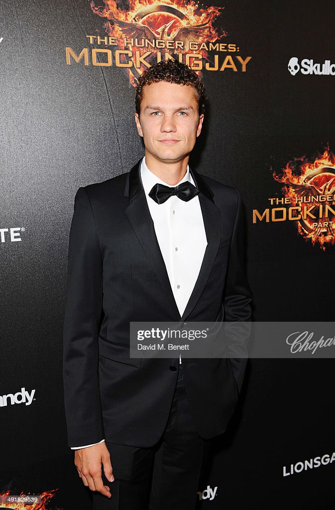 Arcadiy Golubovich attends Lionsgate's 'The Hunger Games: Mockingjay Part 1' party at a private villa on May 17, 2014 in Cannes, France.