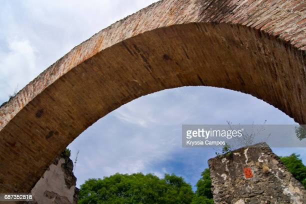 Arch at Ruins of the Church of Ujarras in the Orosi Valley, Costa Rica, Central America