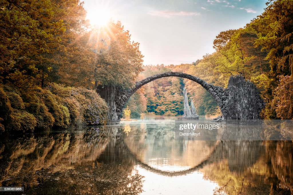 Arch Bridge (Rakotzbrucke) at Autumn