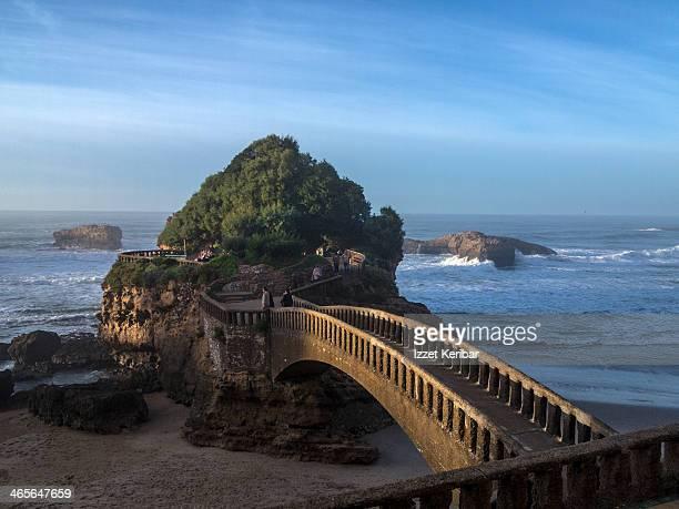 Arch bridge on the beach, Le Basta, Biarritz