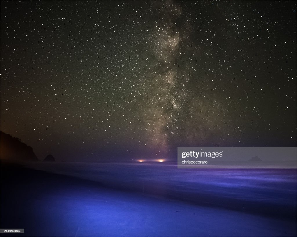 Arch Cape Starry Nights : Stock Photo