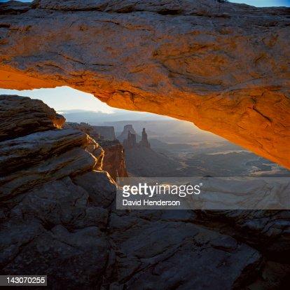 Arch in desert landscape : Stock Photo