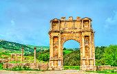 Arch of Caracalla at Djemila. UNESCO world heritage in Algeria