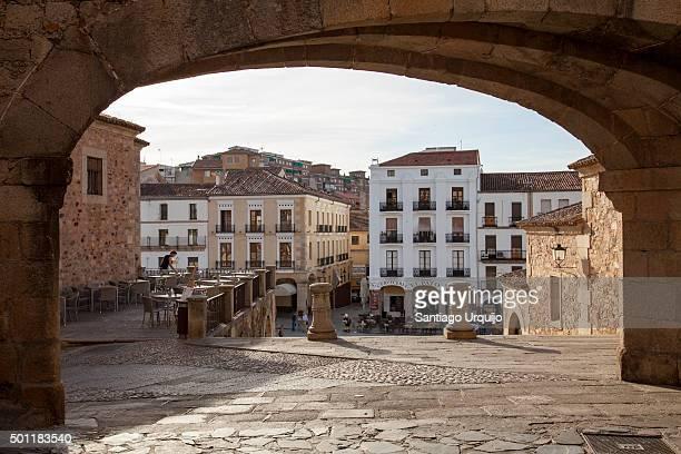 Arch of La Estrella above Plaza Mayor of Caceres