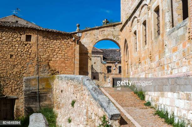 Arch of the church of San Miguel in Maderuelo, Segovia, Spain