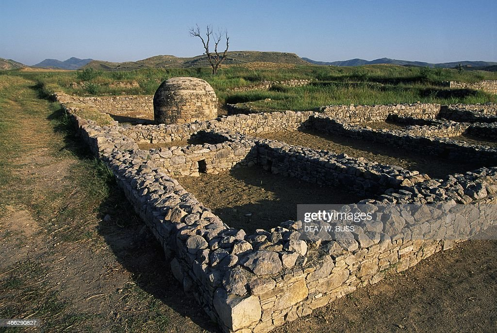 Archaeological excavations of ancient Sirkap Taxila Pakistan 2nd century BC