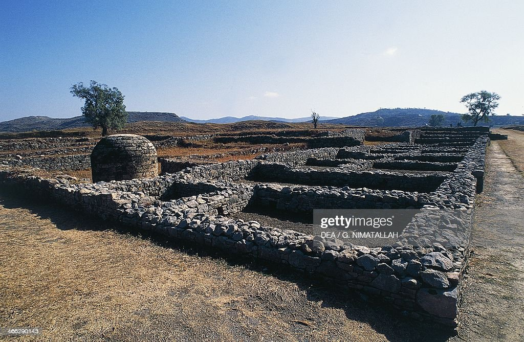 Archaeological excavations of the ancient Sirkap Taxila Pakistan 2nd century BC