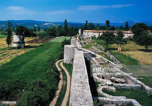 Archaeological ruins Saepinum Molise Italy Roman civilisation