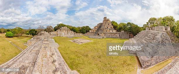 Archaeological site of Edzna , Yucatan Peninsula , Campeche , Mexico , Maya Civilization