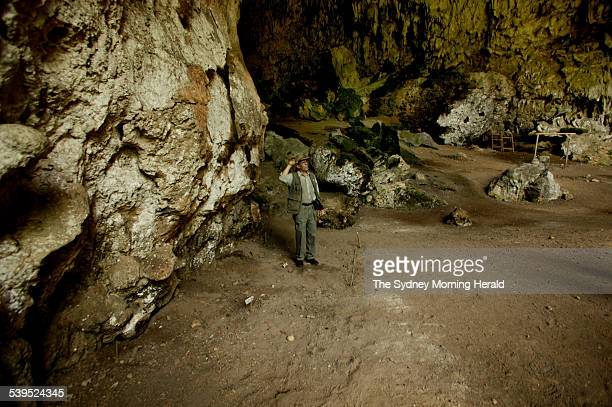 Archaeologist Douglas Hobbs at the site of the hobbit find in the cave at Liang Bua 27 November 2004 SMH Picture by SAHLAN HAYES