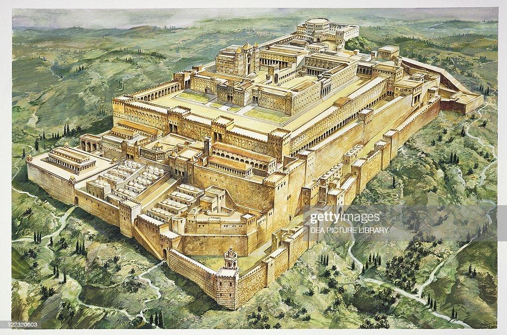 archaeology jerusalem reconstructed solomons palace