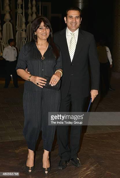 Archana Puran Singh and Parmeet Sethi at the wedding reception of Shahid Kapur and Mira Rajput in Mumbai